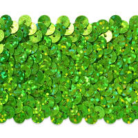 "5 Row 1 3/4"" Starlight Hologram Stretch Sequin Trim Lime (Precut, 10 Yards)"