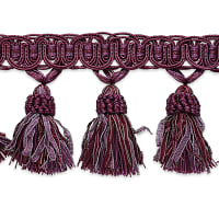 Pinecone Tassel Fringe Trim Purple Multi (Precut, 10 Yards)