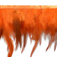 Jaylo Feather Fringe Trim Orange (Precut, 5 Yards)