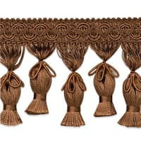 Tied Tassel Fringe Trim Cocoa (Precut, 10 Yards)