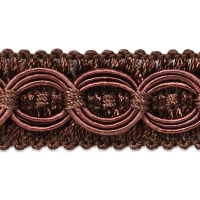 Collette Woven Braid Circle Trim Chocolate (Precut, 20 Yards)