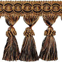 Kylie Classic Tassel Fringe Trim Brown/ Cinnamon (Precut, 10 Yards)