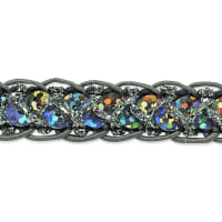 Thea Sequin Cord Braid Trim Gunmetal (Precut, 20 Yards)