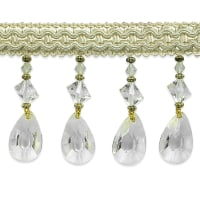 Mariella Diamond Drop Beaded Trim Ivory (Precut, 10 Yards)