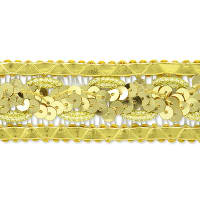 Marcey Sequin Braid Trim Gold (Precut, 20 Yards)