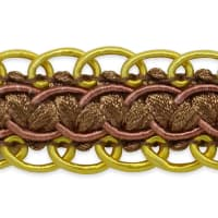 Linda Scalloped Braid Trim Chocolate Multi (Precut, 20 Yards)