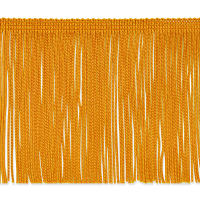 "4"" Chainette Fringe Trim Yellow Gold (Precut, 20 Yards)"