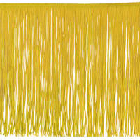 "12"" Chainette Fringe Trim Yellow Gold (Precut, 20 Yards)"