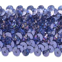 "4 Row 1 1/2"" Starlight Hologram Stretch Sequin Trim Lavender (Precut, 10 Yards)"