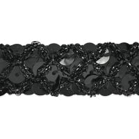 Sereia Sequin Trim Black (Precut, 20 Yards)