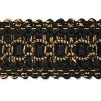 Bella Woven Braid Trim Black Multi (Precut, 20 Yards)