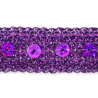 Adriana Sequin Metallic Braid Trim Purple (Precut, 20 Yards)