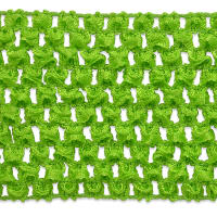 "2 3/4"" Crochet Stretch Trim Lime (Precut, 20 Yards)"