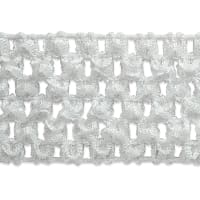 "1 3/4"" Crochet Stretch Trim White (Precut, 20 Yards)"