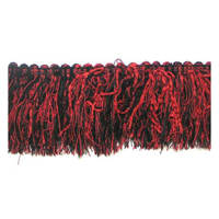 Chenille Cut Fringe Trim Cranberry Multi (Precut, 10 Yards)