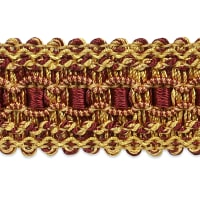 Bella Woven Braid Trim Burgundy Multi (Precut, 20 Yards)