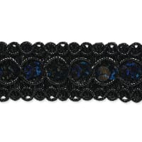 Trish Sequin Metallic Braid Trim Black (Precut, 20 Yards)