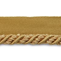"Mariel 1/4"" Decorative Lip Cord Trim Gold (Precut, 20 Yards)"