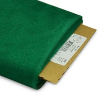 "54"" Shiny Polyester Tulle Fabric (Bolt, 25 Yards) Emerald"