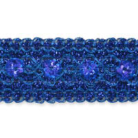 Adriana Sequin Metallic Braid Trim Royal Blue (Precut, 20 Yards)