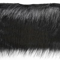 Faux Fox Fur Trim Black (Precut, 10 Yards)