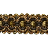 Gabrielle Decorative Braid Trim Brown/ Cinnamon (Precut, 20 Yards)