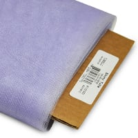 "54"" Shiny Polyester Tulle Fabric (Bolt, 25 Yards)	 Lilac"