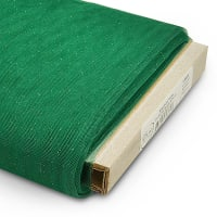 """54"""" Stardust Polyester Tulle Fabric (Bolt, 25 Yards) Emerald/Gold"""
