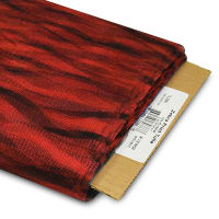 """54"""" Zebra Print Polyester Tulle Fabric (Bolt, 25 Yards) Red"""