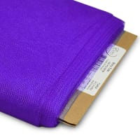 "54"" Shiny Polyester Tulle Fabric (Bolt, 25 Yards) Purple"