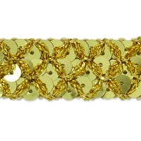 Sereia Sequin Trim Gold (Precut, 20 Yards)