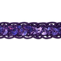 Thea Sequin Cord Braid Trim Purple (Precut, 20 Yards)