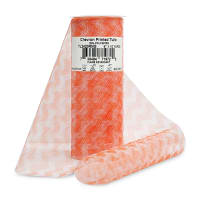 "6"" Chevron Zig Zag Printed Tulle (Spool, 10 Yards) Orange"