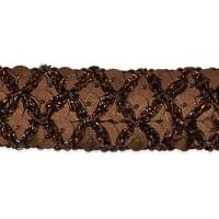 Sereia Sequin Trim Chocolate (Precut, 20 Yards)