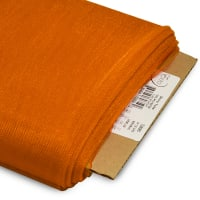 "54"" Shiny Polyester Tulle Fabric (Bolt, 25 Yards) Orange"