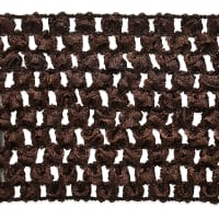 "2 3/4"" Crochet Stretch Trim Chocolate (Precut, 20 Yards)"