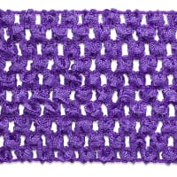 "2 3/4"" Crochet Stretch Trim Purple (Precut, 20 Yards)"