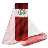 "Zebra Print 6"" Tulle (Spool, 10 Yards) Red"
