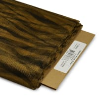 """54"""" Zebra Print Polyester Tulle Fabric (Bolt, 25 Yards) Antique Gold"""
