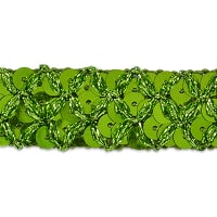 Sereia Sequin Trim Lime (Precut, 20 Yards)