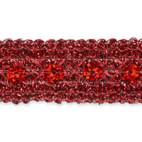 Adriana Sequin Metallic Braid Trim Red (Precut, 20 Yards)