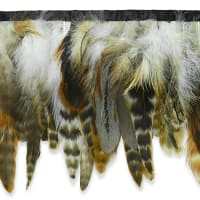 Feather Fringe Trim Brown Multi (Precut, 5 Yards)
