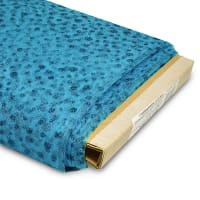 """54"""" Glitter Dots Polyester Tulle Fabric (Bolt, 25 Yards) Turquoise"""
