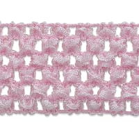 "1 3/4"" Crochet Stretch Trim Pink (Precut, 20 Yards)"