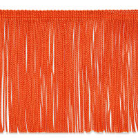 "6"" Chainette Fringe Trim Orange (Precut, 20 Yards)"