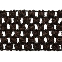 "1 3/4"" Crochet Stretch Trim Chocolate (Precut, 20 Yards)"