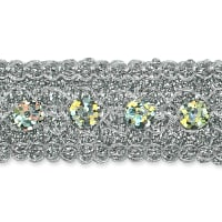 Adriana Sequin Metallic Braid Trim Silver (Precut, 20 Yards)