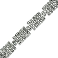 "Christine Rhinestone Trim 3/8"" Crystal (Precut, 5 Yards)"