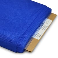 "54"" Shiny Polyester Tulle Fabric (Bolt, 25 Yards) Royal Blue"