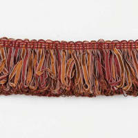 Allie Loop Fiber Fringe Trim Cinnamon Multi (Precut, 10 Yards)
